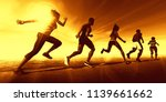 fitness training together in a... | Shutterstock . vector #1139661662