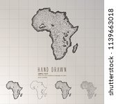 hand drawn africa map. | Shutterstock .eps vector #1139663018