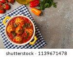 chicken meatballs with tomato... | Shutterstock . vector #1139671478