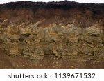 soil cut sandstone  stones ... | Shutterstock . vector #1139671532