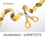 grand opening with glitter... | Shutterstock .eps vector #1139671772
