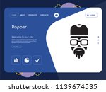 quality one page rapper website ... | Shutterstock .eps vector #1139674535