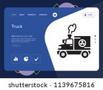quality one page truck website...   Shutterstock .eps vector #1139675816