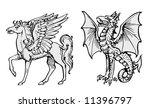 fairy animals vector | Shutterstock .eps vector #11396797