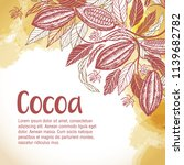 cacao beans plant  vector... | Shutterstock .eps vector #1139682782