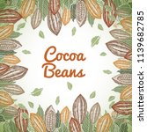 cacao beans plant  vector... | Shutterstock .eps vector #1139682785