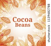 cacao beans plant  vector... | Shutterstock .eps vector #1139682788