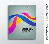 cover business book annual... | Shutterstock .eps vector #1139684465