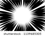 abstract radial zoom speed... | Shutterstock .eps vector #1139685305