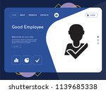 quality one page good employee... | Shutterstock .eps vector #1139685338