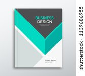 cover business book annual... | Shutterstock .eps vector #1139686955