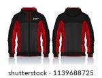 hoodie shirts template.jacket... | Shutterstock .eps vector #1139688725