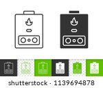 gas boiler black linear and... | Shutterstock .eps vector #1139694878