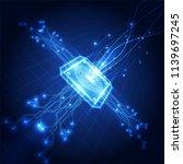 fingerprint integrated in a... | Shutterstock .eps vector #1139697245