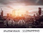 gas storage sphere tanks in... | Shutterstock . vector #1139699945