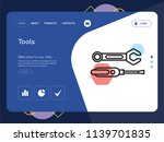 quality one page tools website...   Shutterstock .eps vector #1139701835