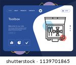 quality one page toolbox... | Shutterstock .eps vector #1139701865