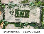 letters carved in stone  close... | Shutterstock . vector #1139704685