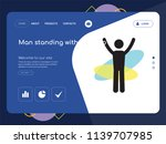 quality one page man standing... | Shutterstock .eps vector #1139707985