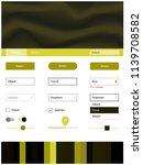 dark green  yellow vector ui ux ...