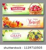 banners for harvest festival.... | Shutterstock .eps vector #1139710505
