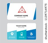 tetrahedron business card... | Shutterstock .eps vector #1139714975