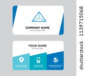 tetrahedron business card... | Shutterstock .eps vector #1139715068