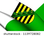 3d flag of saxony  germany. 3d...   Shutterstock . vector #1139728082
