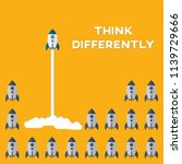 think differently   being...   Shutterstock .eps vector #1139729666