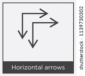horizontal arrows icon isolated ...   Shutterstock .eps vector #1139730302