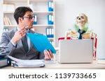 businessman working with... | Shutterstock . vector #1139733665