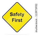 yellow signal safety first aid...   Shutterstock . vector #113973952