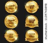 premium quality golden banners   Shutterstock . vector #1139743898
