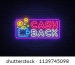 cash back sign vector design... | Shutterstock .eps vector #1139745098