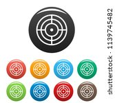 objective of target icon.... | Shutterstock . vector #1139745482
