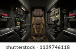 science fiction pilot's seat in ... | Shutterstock . vector #1139746118