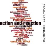 action and reaction word cloud... | Shutterstock .eps vector #1139749082