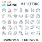 set of vector line icons of... | Shutterstock .eps vector #1139750948