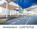 young athletic man training... | Shutterstock . vector #1139752928