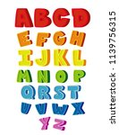 colorful alphabet for children... | Shutterstock .eps vector #1139756315
