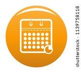 calendar business icon. simple...