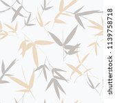 seamless pattern with bamboo... | Shutterstock .eps vector #1139758718
