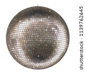disco ball isolated on white... | Shutterstock . vector #1139762645
