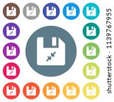 compress file flat white icons... | Shutterstock .eps vector #1139767955