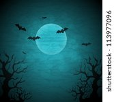 halloween vector background... | Shutterstock .eps vector #113977096