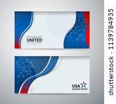 american flag background...   Shutterstock .eps vector #1139784935