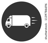 delivery truck icon. gray...   Shutterstock .eps vector #1139786696