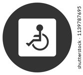 disabled vector icon.paralyzed... | Shutterstock .eps vector #1139787695