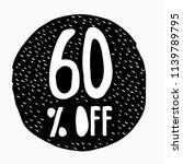 60  off discount. discount... | Shutterstock .eps vector #1139789795