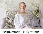girl white light dress and...   Shutterstock . vector #1139798585